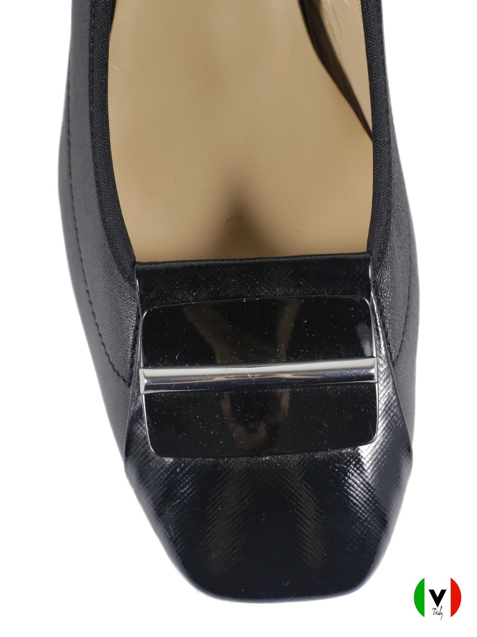 Осенние туфли Napoleoni каблук 5 см 4165, артикул 4165, сезон осень, цвет чёрный, материал кожа, цена 7 000 руб., veroitaly.ru