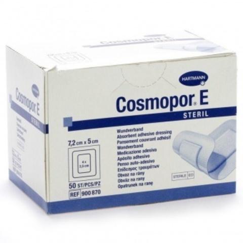 Космопор Е Стерил - Cosmopor E Steril, пластырная повязка с подушечкой, 7,2х5 см