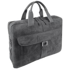 Кожаный портфель на молнии Wenger W23-10Bl