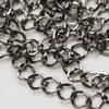 Цепь (цвет - черный никель) 8х7 мм, примерно 4 м