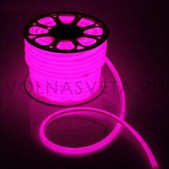 Гибкий неон D16 - круглый, светодиодный | Розовый - 25м