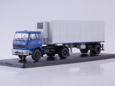 LIAZ 110.471 with semitrailer Alka N13CH blue-white 1:43 Start Scale Models (SSM)