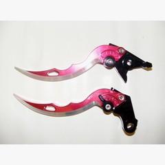 Короткие рычаги тормоза/сцепления в форме ножей для мотоциклов Kawasaki Красный
