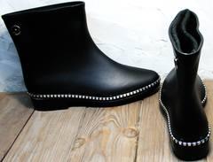 Резиновые сапоги женские интернет магазин Hello Rain Story 1019 Black.