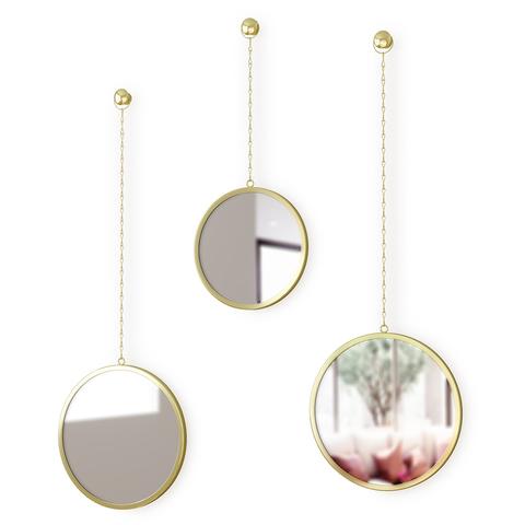 Комплект из 3х круглых зеркал  Dima - латунь