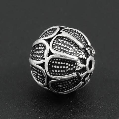 Бусина Этно 12 мм серебро 925