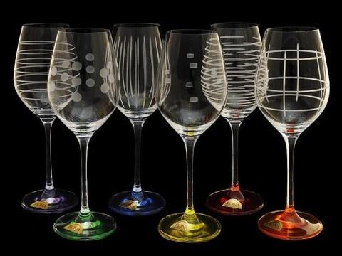 Набор разноцветных бокалов для вина «Celebration», 6 шт