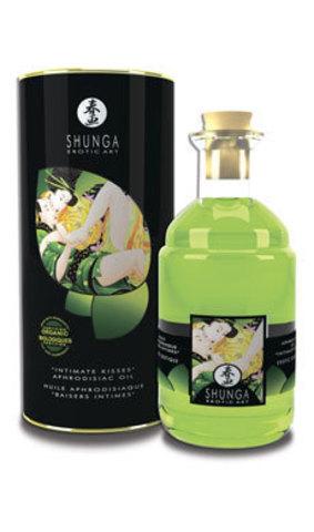 Съедобное массажное масло Shunga (Шунга) с ароматом зеленого чая (100 мл)