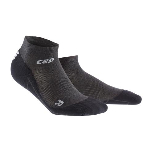 Для занятий спортом Функциональные короткие гольфы CEP, с шерстью мериноса 09M_cep_run_merino_low_cut_socks_anthracite.jpg