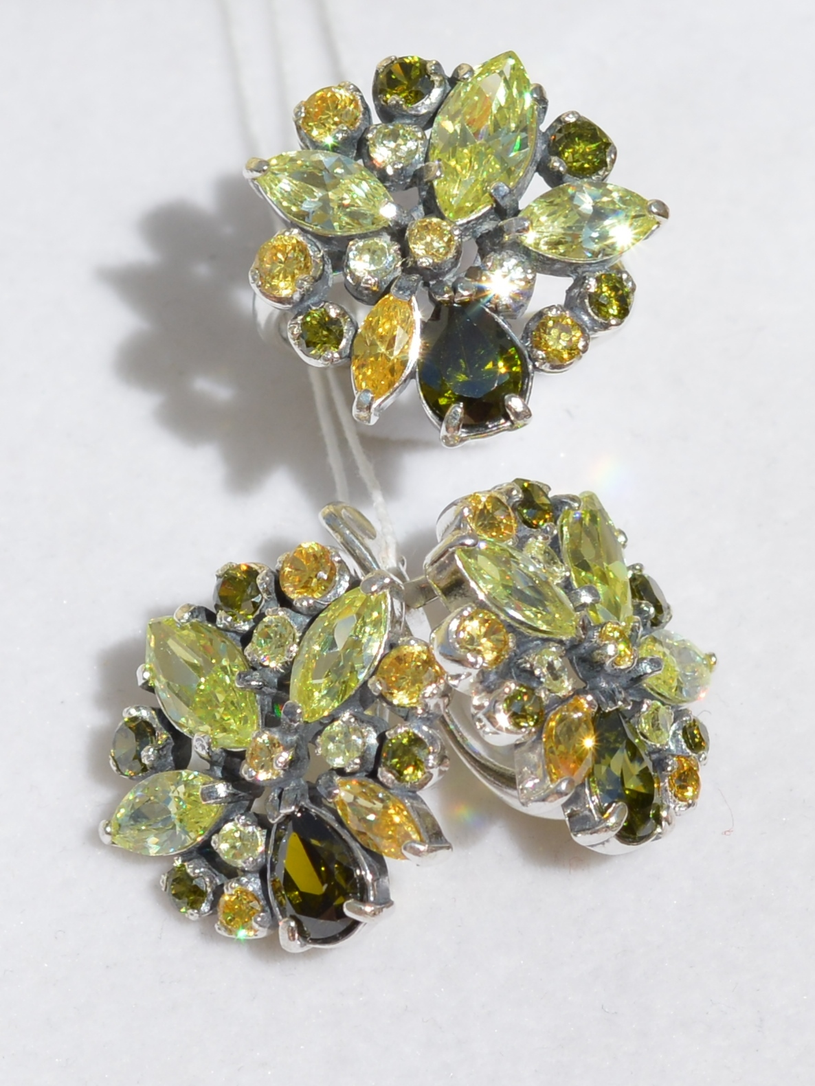 Аракс Ц(кольцо + серьги из серебра)