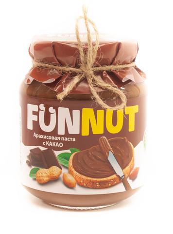 Арахисовая паста FUNNUT, с какао, 340 гр