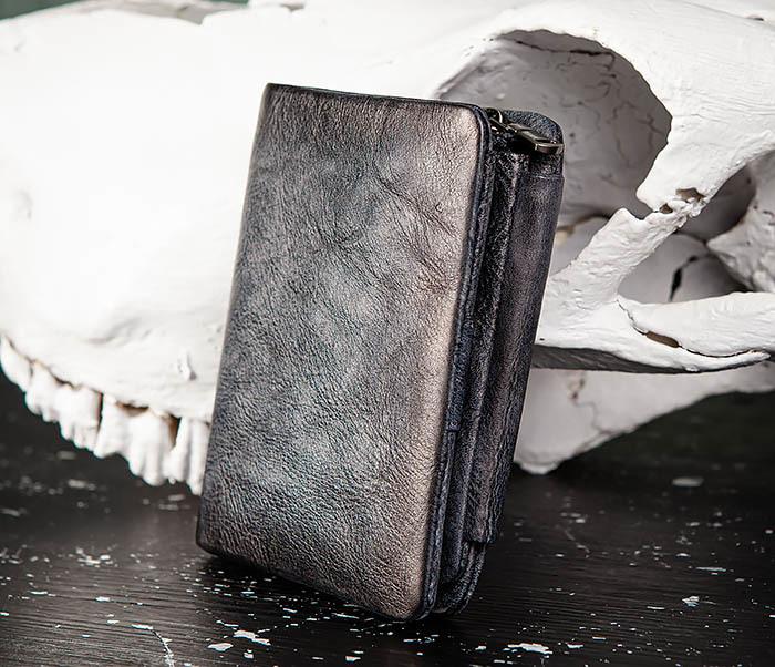 WL329-3 Мужское портмоне из натуральной кожи с монетницей фото 02