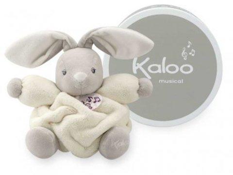 Kaloo. Мягкая игрушка Зайка музыкальный белый  (маленький размер)