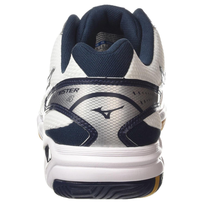 Мужские кроссовки для волейбола мизуно твистер 4 (V1GA1570 14) белые фото