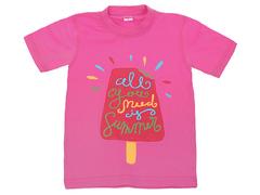 DLM11-55 футболка детская, малиновая