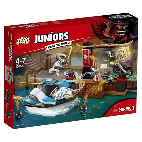 LEGO Juniors: Погоня на моторной лодке Зейна 10755 — Zane's Ninja Boat Pursuit — Лего Джуниорс Подростки