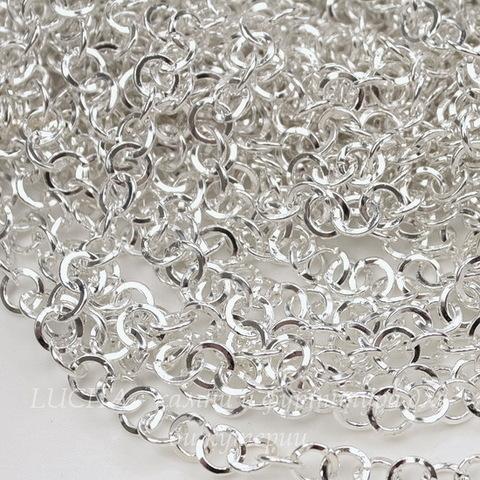 Цепь (цвет - серебро) 6,6 мм, примерно 10 м