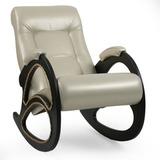Кресло-качалка Модель 4 экокожа с лозой
