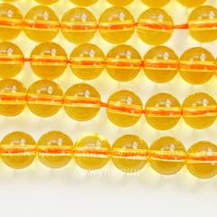 Бусина Цитрин (Категория AA)(тониров), шарик, 8 мм, нить