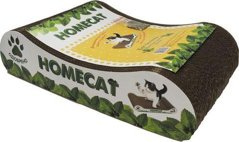 ПРОМО! Homecat Когтеточка Мятная волна малая 41x24x10см (лакомство в подарок)
