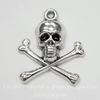 """Подвеска """"Череп с костями"""" 24х21 мм (цвет - античное серебро)"""