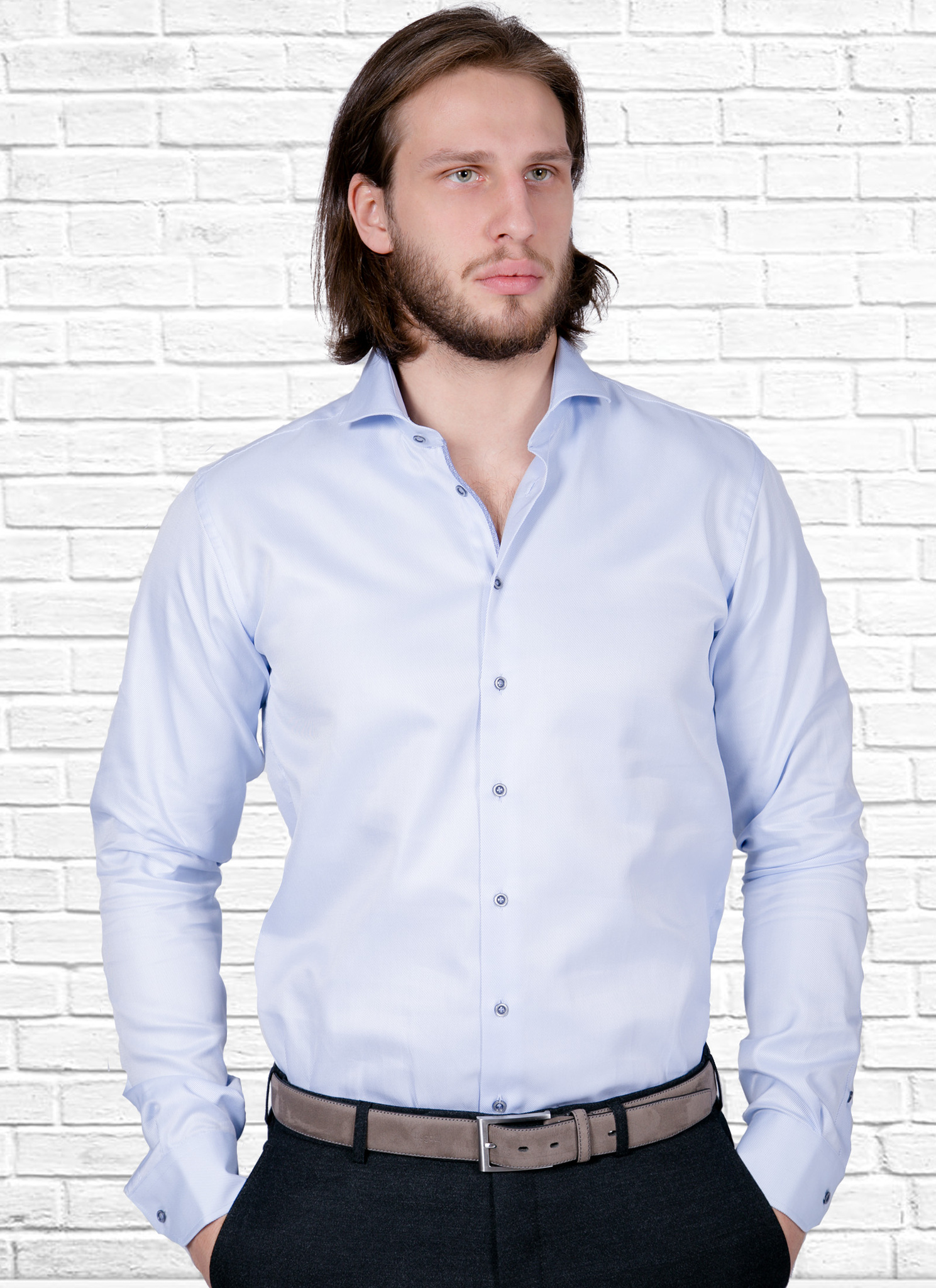 Рубашка Ledub slim fit 0135707_120-140-000-SF-Blue