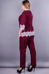 Тэй. Женский костюм больших размеров. Бордо.