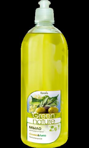Floralis Green Nature Мыло для рук и тела 2в1 Олива & Липа 1000г
