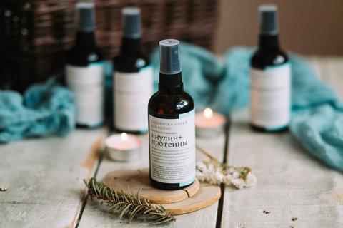 Сыворотка-спрей для волос Инулин+Протеины Краснополянская косметика, 100 мл
