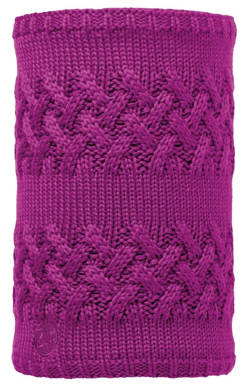 Вязаный шарф-труба с флисовой подкладкой Buff Savva Mardi Grape