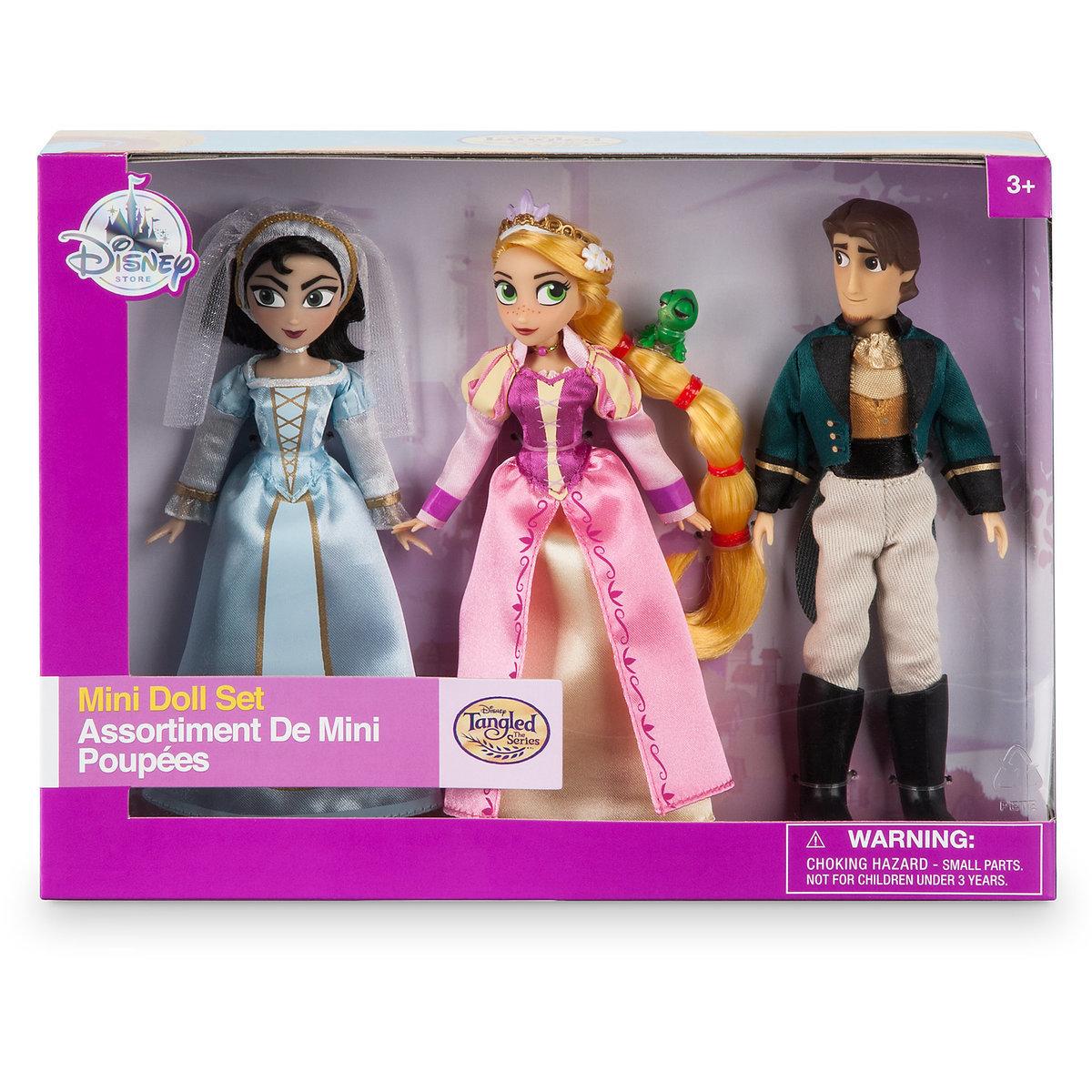 Набор мини-кукол Дисней «Рапунцель» - 12 см