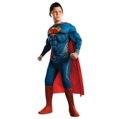 Детский костюм Супермен — Deluxe Muscle Superman Costume Child