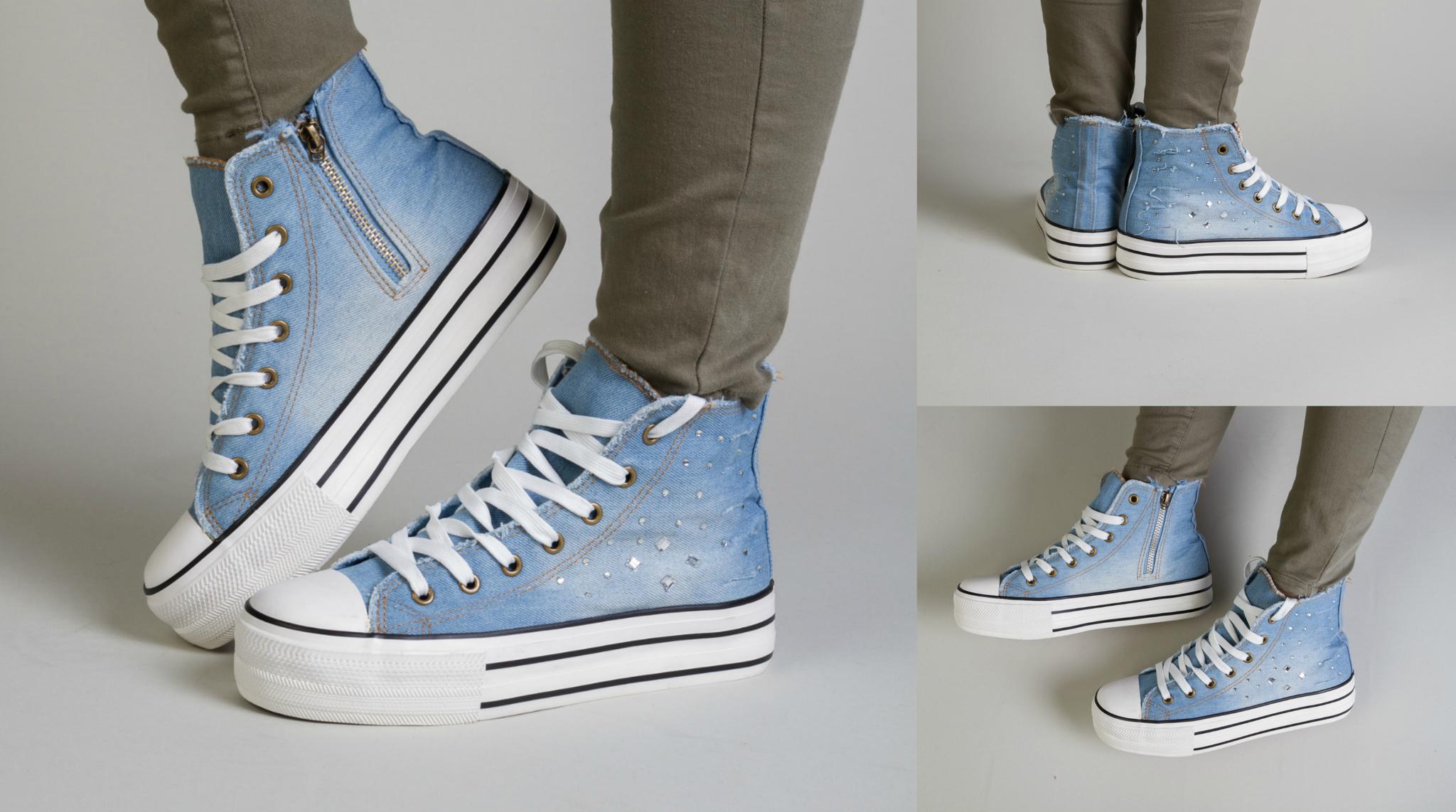 2efb9529 Обувь женская 502606-1 КЕДЫ-Джинсовые