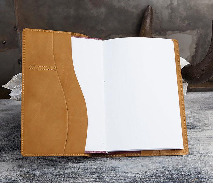 BY05-15-05 Кожаный ежедневник «РЫСЬ» со сменным блоком (A5) фото 05