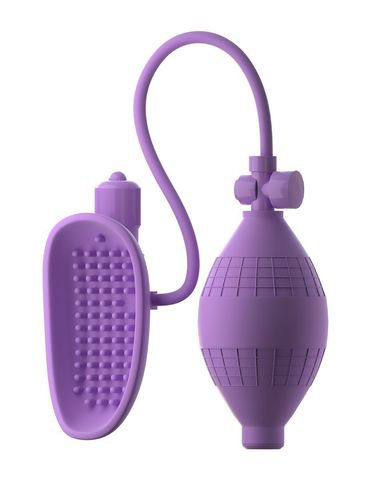 Сиреневая вакуумная вибропомпа для вагины Sensual Pump-Her