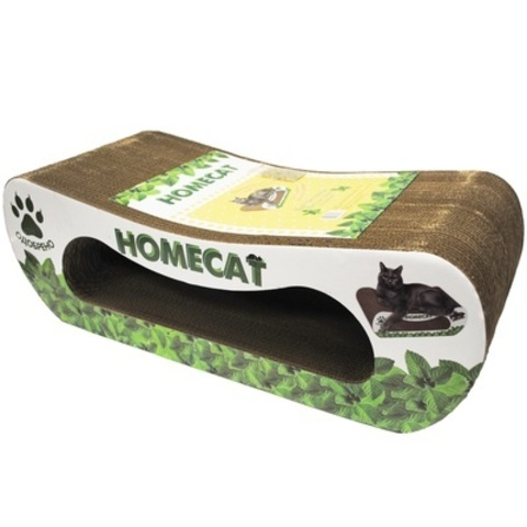 Homecat Когтеточка мятная волна гофрокартон большая 61*25*20