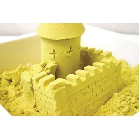 Космический песок 2 кг, желтый 4