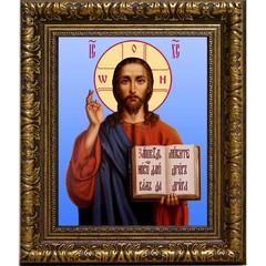 Иисус Христос Спаситель. Икона на холсте.