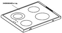 Стеклокерамическая варочная поверхность ELECTROLUX 3428382455 зам. 3428280709, 3428280667