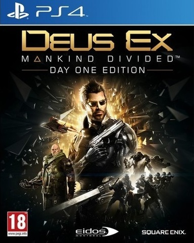 PS4 Deus Ex: Mankind Divided. Day One Edition (русская версия)