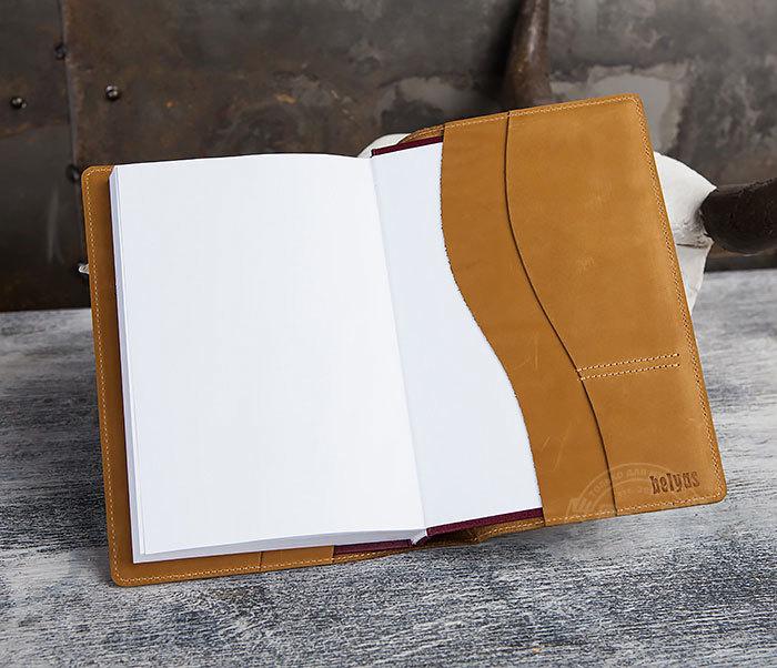 BY05-15-05 Кожаный ежедневник «РЫСЬ» со сменным блоком (A5) фото 07