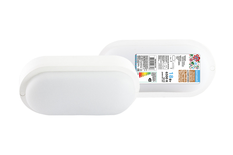 Светодиодный светильник LED ДПП 3801 18Вт 6500К IP65 белый овал 196*97*57 мм Народный