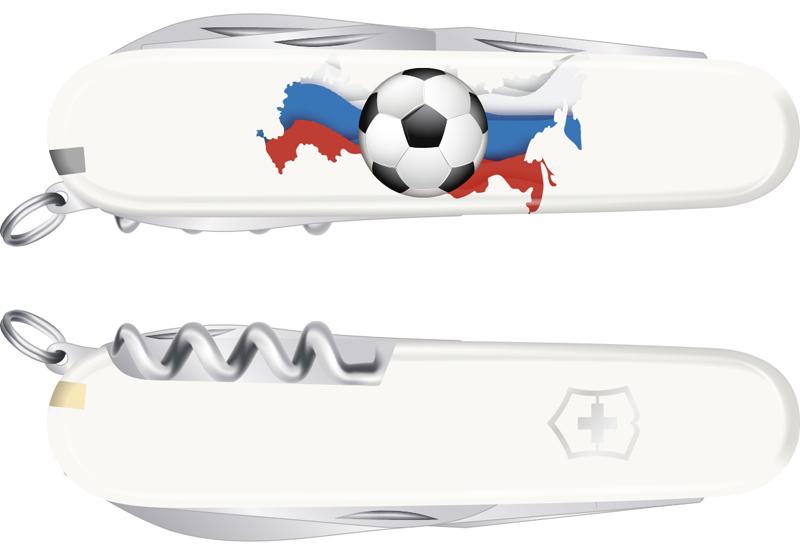 "Нож Victorinox Spartan, 91 мм, 12 функций, ""Российский футбол"""