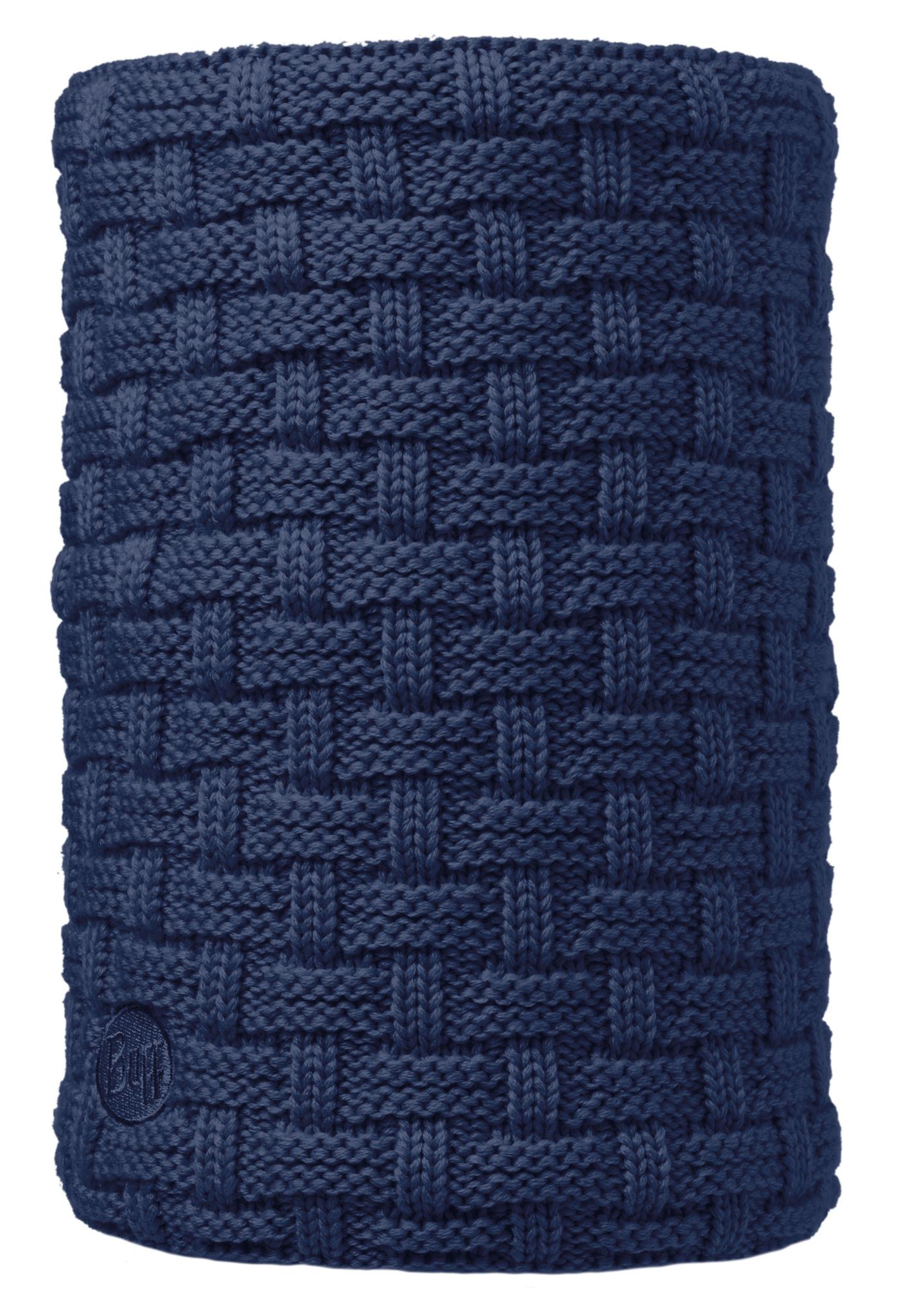 Вязаный шарф-труба с флисовой подкладкой Buff Airon Dark Denim
