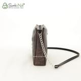 Сумка Саломея 308 змея металлик бронза