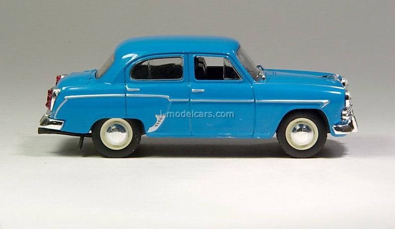 Moskvich-407 bright blue 1:43 DeAgostini Auto Legends USSR #1