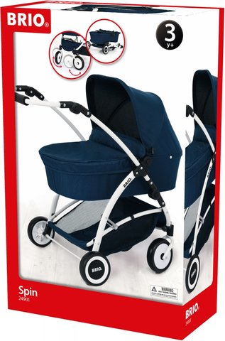 BRIO Spin 24901000 Коляска для кукол синяя