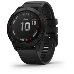 Мультиспортивные часы Garmin Fenix 6X Pro - черные с черным ремешком 010-02157-01