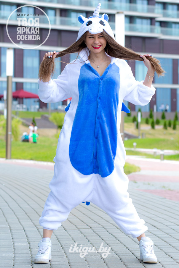 Пижамы кигуруми Единорог Синий unicorn_blue.jpg
