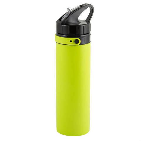 Складная силиконовая бутылка для воды 0.7л